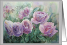 Purple Rose Birthday Card for Boss card