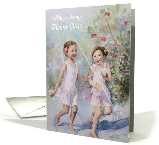 Will you be my flower girl? card (570655)