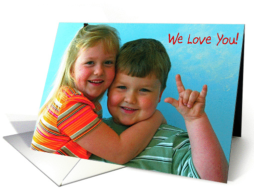 Adorable Brother & Sister card (202178)