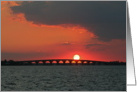 Orange Sunset Over Bridge card