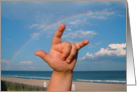 Mother's Day, Sign Language at the beach card