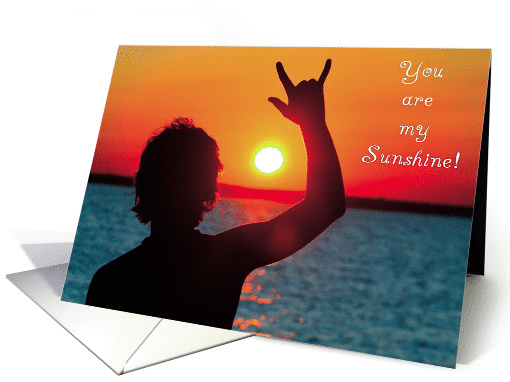Sign Language - You are my Sunshine I Love You card (864165)