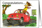 Congratulations Drivers license Card