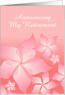 Retirement Announcement With Floral Abstract card