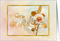 Congratulations From All Of Us Card With Embellished Golden 'Look' card