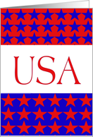 Fourth of July-USA-Red White and Blue card