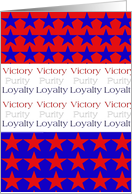 Victory, Purity, Loyalty July 4th Partiotic Card