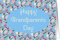 Happy Grandparents Day Grandma,Painted Flowers, card