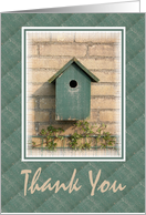 Thank You-Helping Me Move-Bird House card