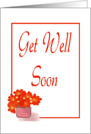 Get Well Soon-Graphic Design-Flower card