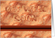 Get Well Soon-Bronze Marble Design, card