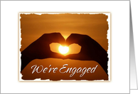 Engagement Party Invitation Sunset Heart Romantic card