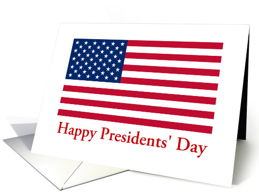 Presidents' Day American Flag Patriotic card (642829)