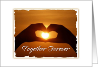 Invitation Engagement Party Together Forever Sunset And Heart card