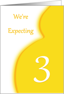We're Expecting Triplets-3-Announcement card
