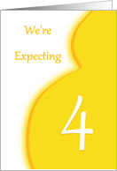 We're Expecting Quadruplets-4-Announcement card