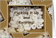 Retiring Announcemnt-Styrofoam Packing Peanuts card