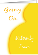 Maternity Leave Announcement-Yellow Boobs and Belly card