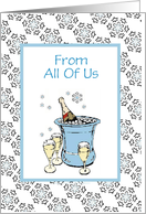 Congratulations-From All Of Us-Bottle of Champagne-Custom card
