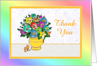 Thank You-For Hospital Visit-Pastel Flowers-Custom card