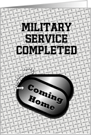 Coming Home Dog Tags-From The Military Announcement card