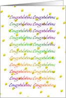Congratulations With Yellow Balloons-From All of Us card