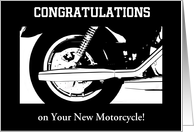 Congratulations-New Motorcycle-Silhouette-Custom Card