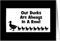 Business-Ducks In A Row-Customizable Card