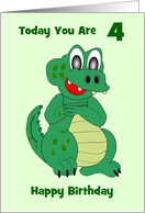 Crocodile Custom Birthday Card