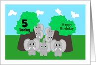 Elephants Custom Birthday card