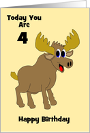 Moose Custom Age Birthday card
