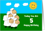 Flock Of Sheep Custom Age Birthday card
