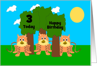 Funny Tigers Custom Age Birthday card