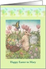 Name Specific illustrated Easter Bunny card