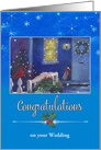 Wedding Congrats Winter Cottage Custom Front card