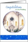 Wedding Congrats Illustrated Church Custom Front card