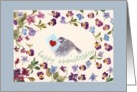 Anniversary For Daughter Bird Special Delivery Pansy Border card