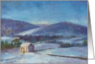 For Neighbor Cozy Xmas Cottage & Winter Oil Landscape card
