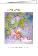 Magical Flower Fairy Age Specific Birthday card