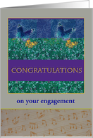 Sister's Engagement Congratulations Custom Front card