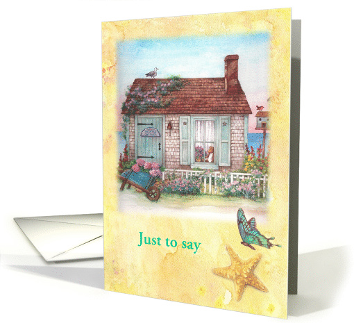 Just to say, Lighthouse Beach Cottage card (1473512)