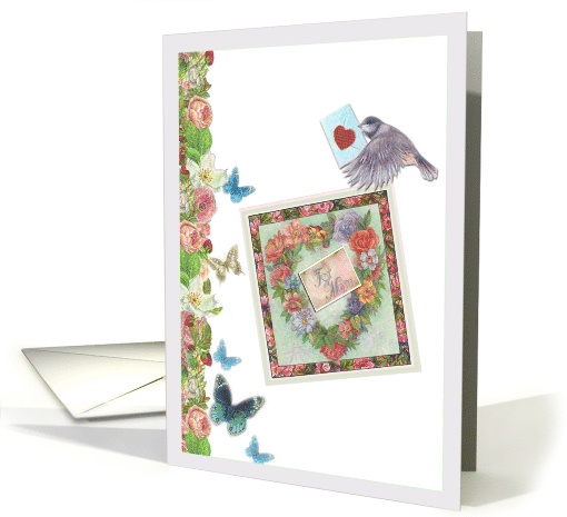 Mother's Day from Daughter , birdie & butterfly special delivery card
