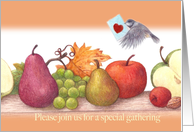 Fall party illustrated special delivery invitation card