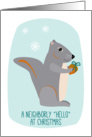 Neighbors Christmas Hello Charming Little Squirrel with Acorn Gift card