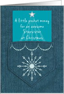 Stepsister Step Sister Christmas Money Enclosed Denim Blue Jeans Look card