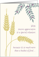 Thank You Food Pantry Volunteer Appreciation Wheat and Berry Motif card
