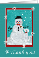 Snowfolks: Snowman and Pup card