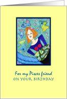 ACEO Pisces Birthday card