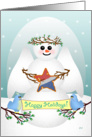 Patriotic Snow Angel with Star 2 card