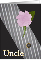 Uncle Walk Me Down the Aisle Peony and Tie card